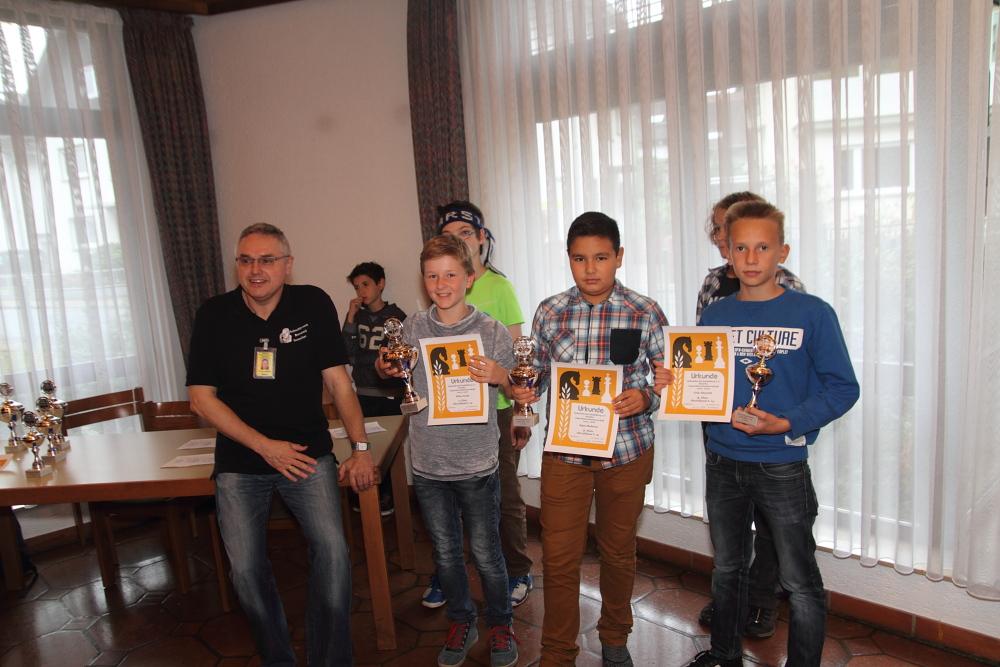 Bezirksjugendeinzelmeisterschaft 2015-2016 Siegerehrung U14
